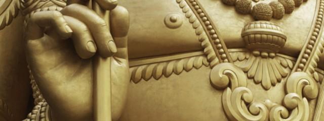 Batu Caves Gold Statue