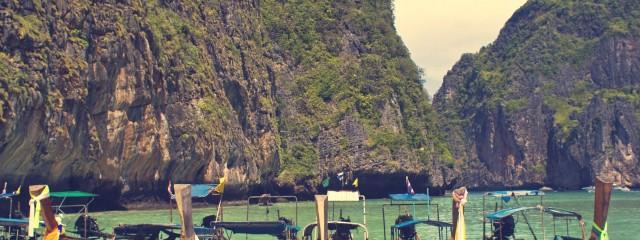 Longtail Boats Maya Bay Phi Phi Thailand